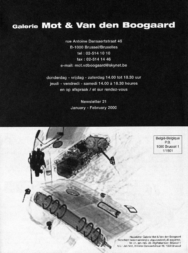 <p>No. 21, January 2000</p>