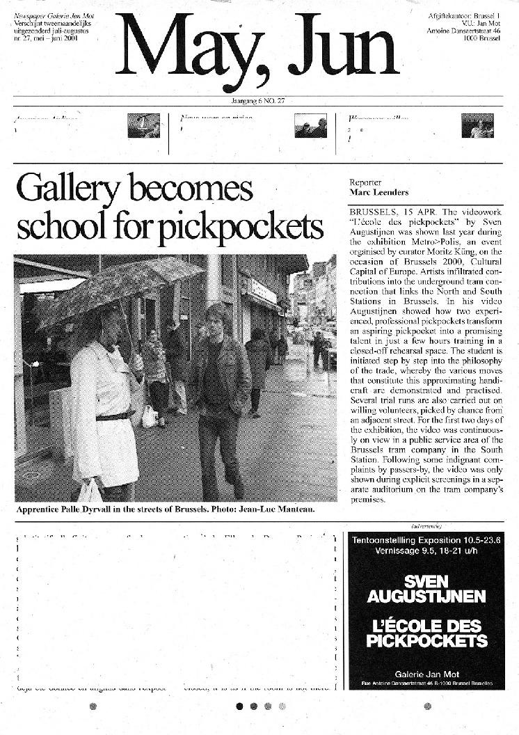 <p>No. 27, May 2001</p>