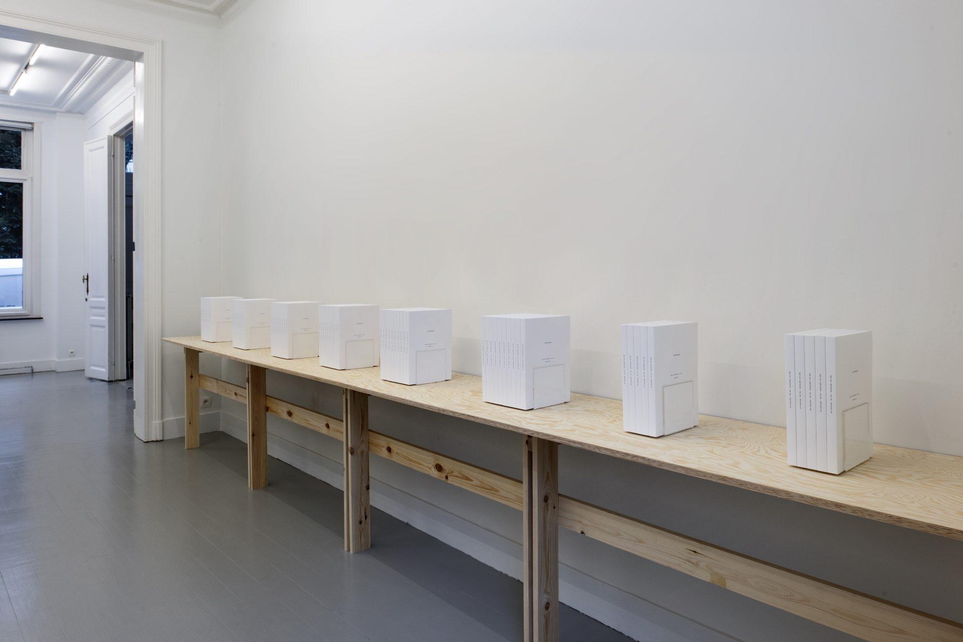 Ian Wilson - installation view at Jan Mot, 2020