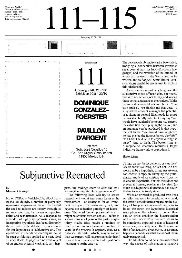 <p>No. 78, August 2011</p>
