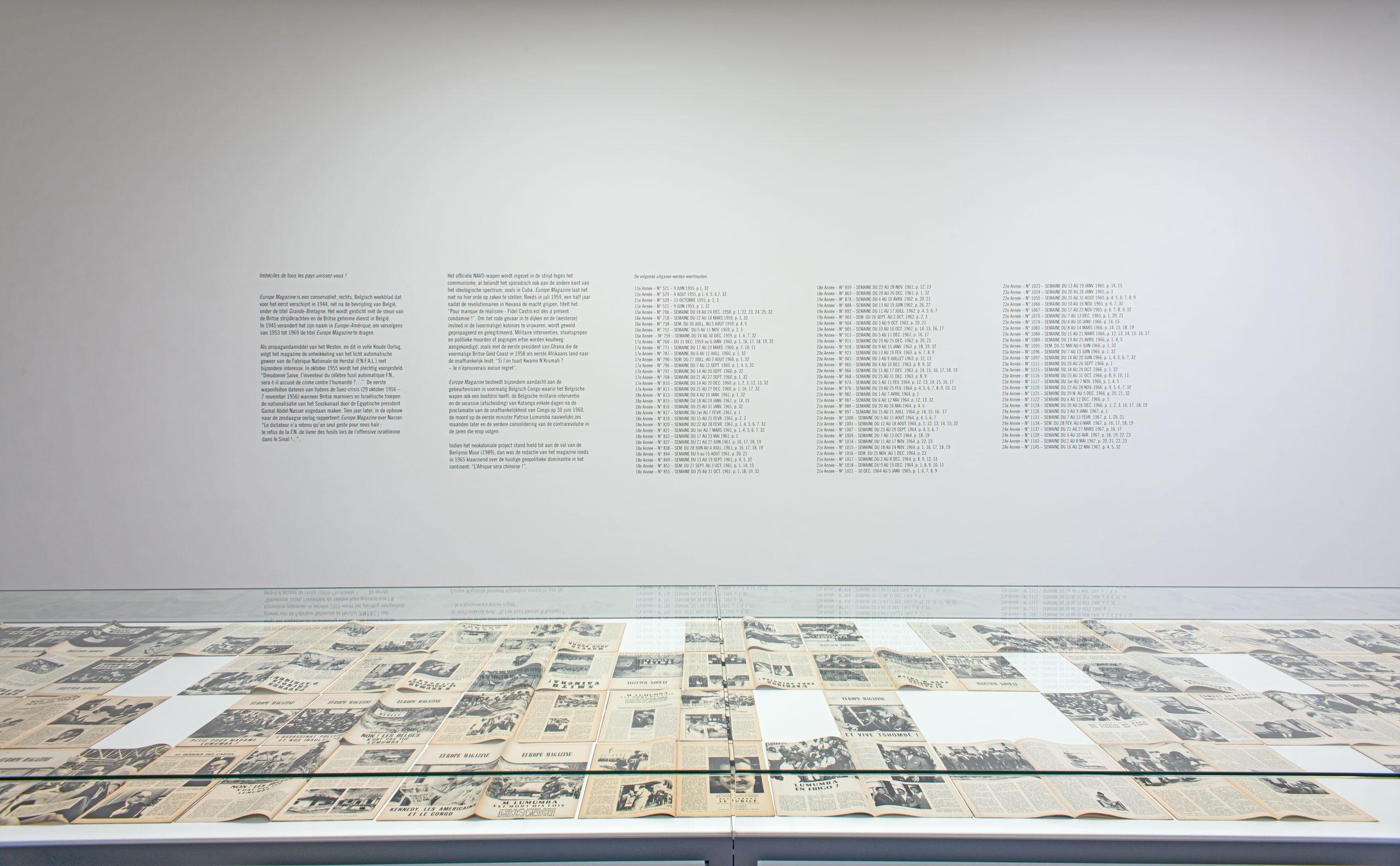 Sven Augustijnen, installation view at MHKA, 2020