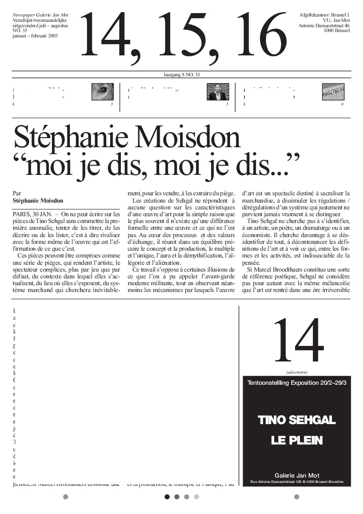 <p>No. 35, January 2003</p>