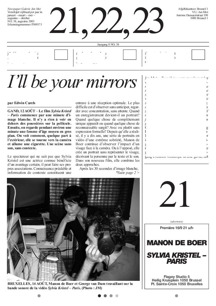 <p>No. 38, August 2003</p>