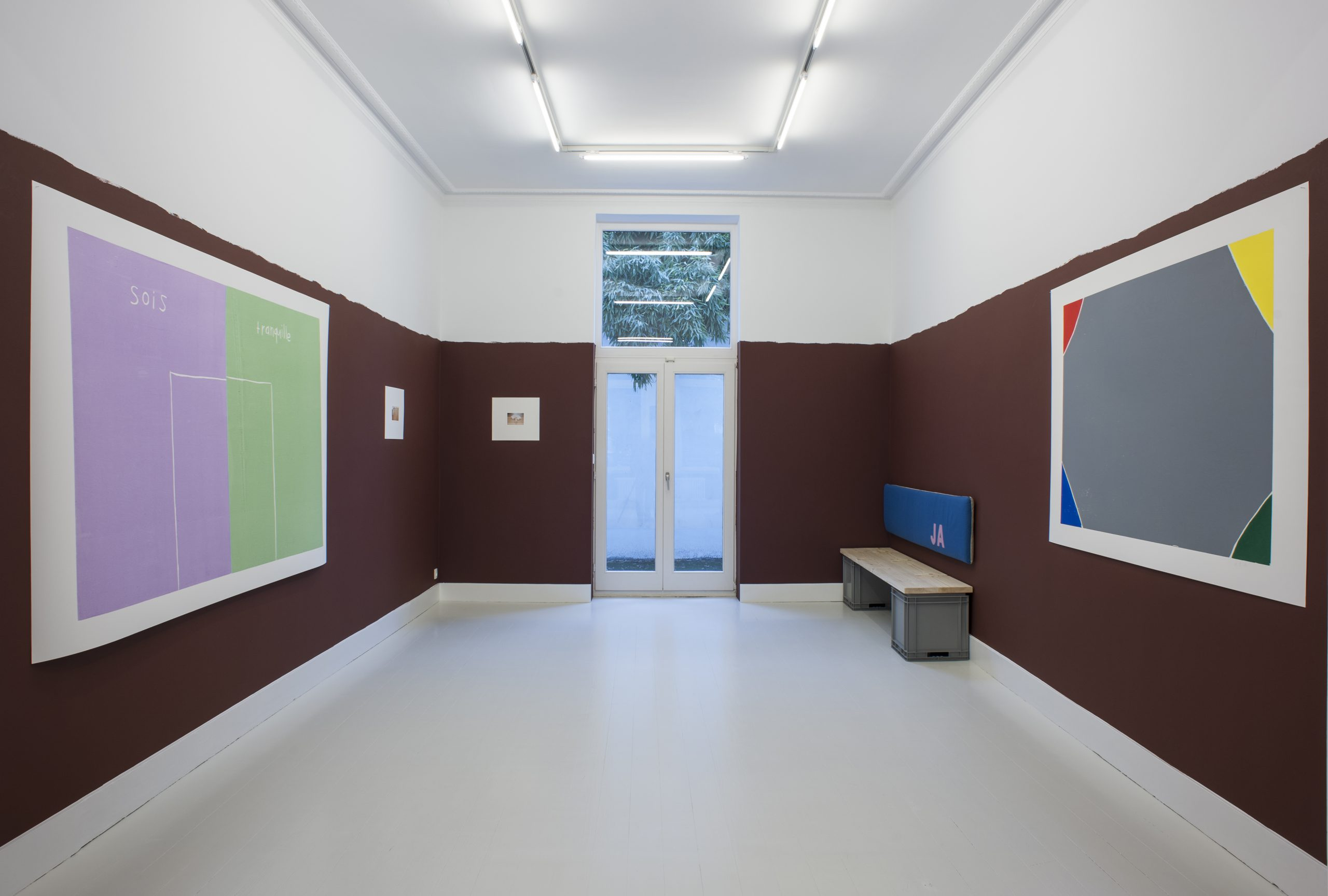 Andrea Büttner, Manon de Boer, installation view at Jan Mot 2018