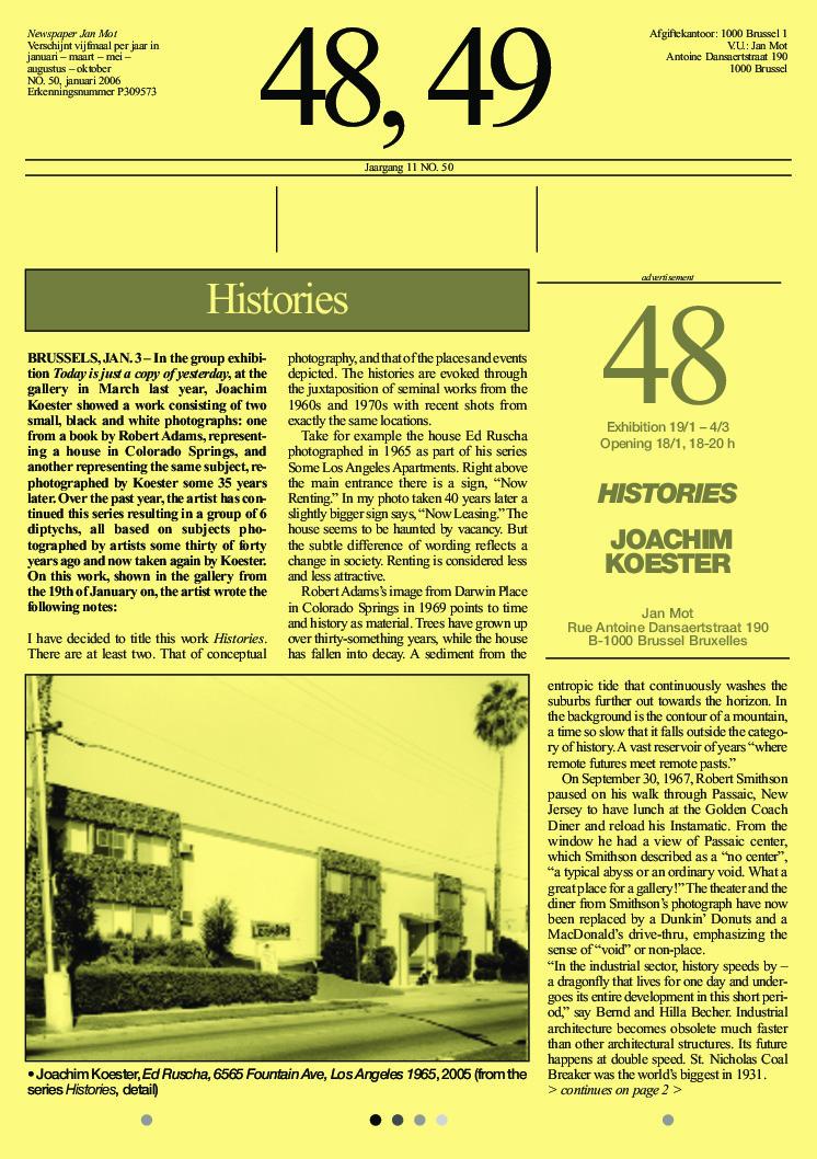 <p>No. 50, January 2006</p>