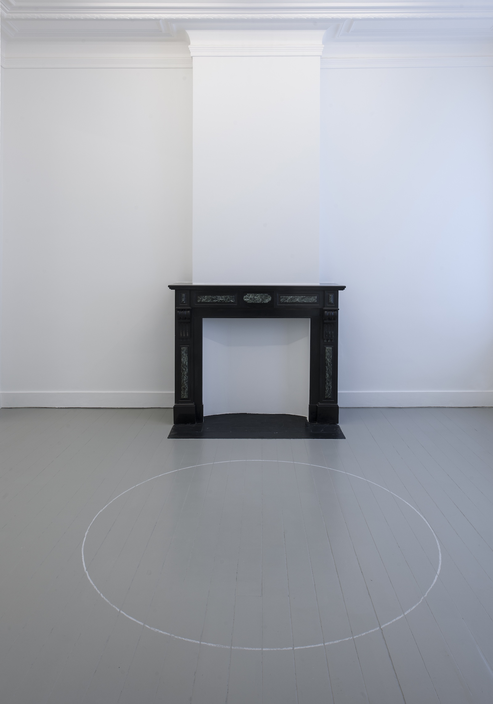 Ian Wilson -installation view at Jan Mot, 2019