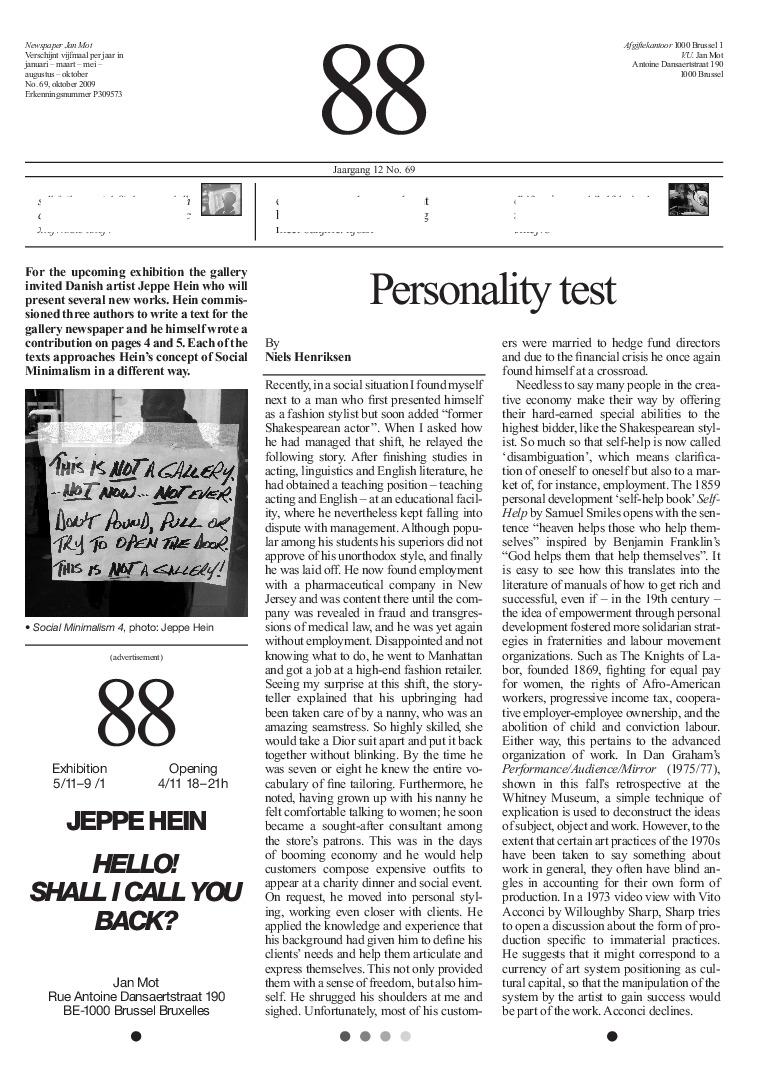 <p>No. 69, October 2009</p>