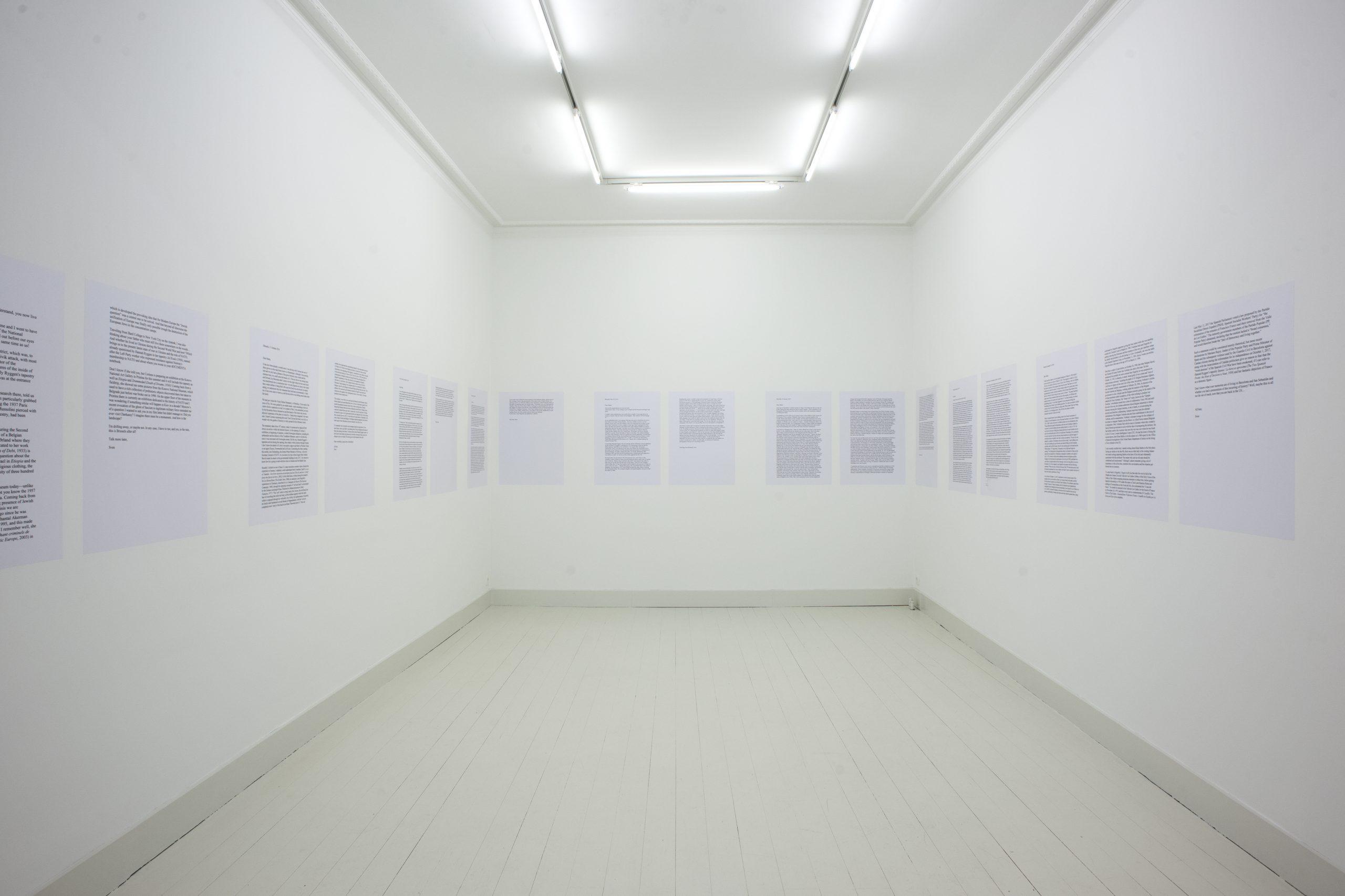 Sven Augustijnen - installation view at Jan Mot, 2018