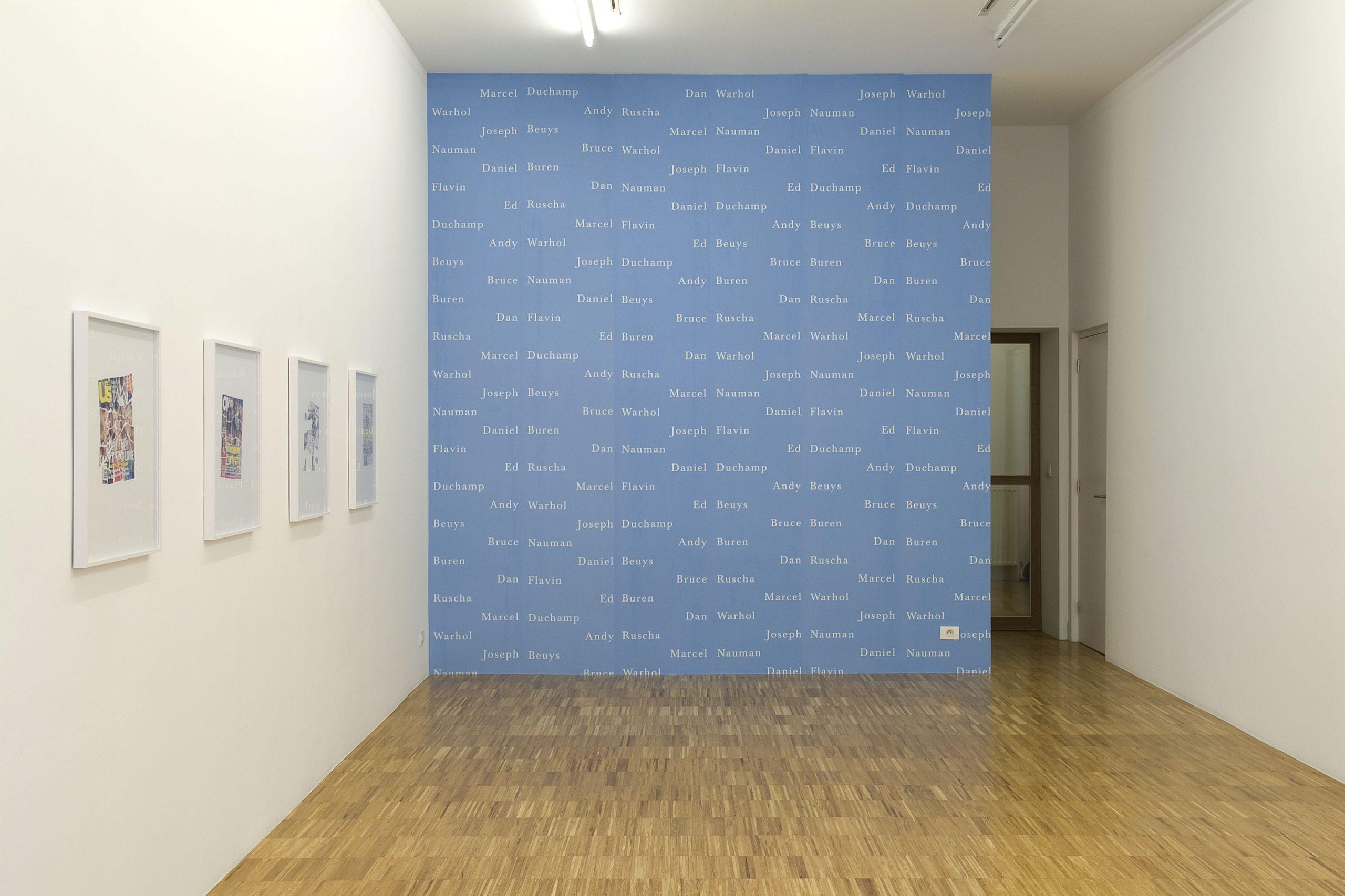 Pierre Bismuth - installation view at Jan Mot, 2007