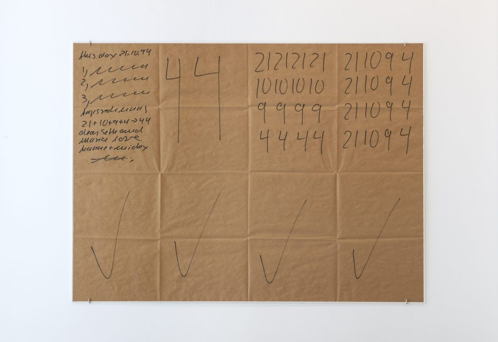 Hanne Darboven Untitled (This Day 21.10.94), 1994
