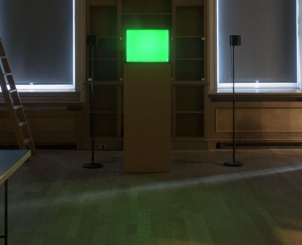 Pierre Bismuth - installation view at Jan Mot, 2015