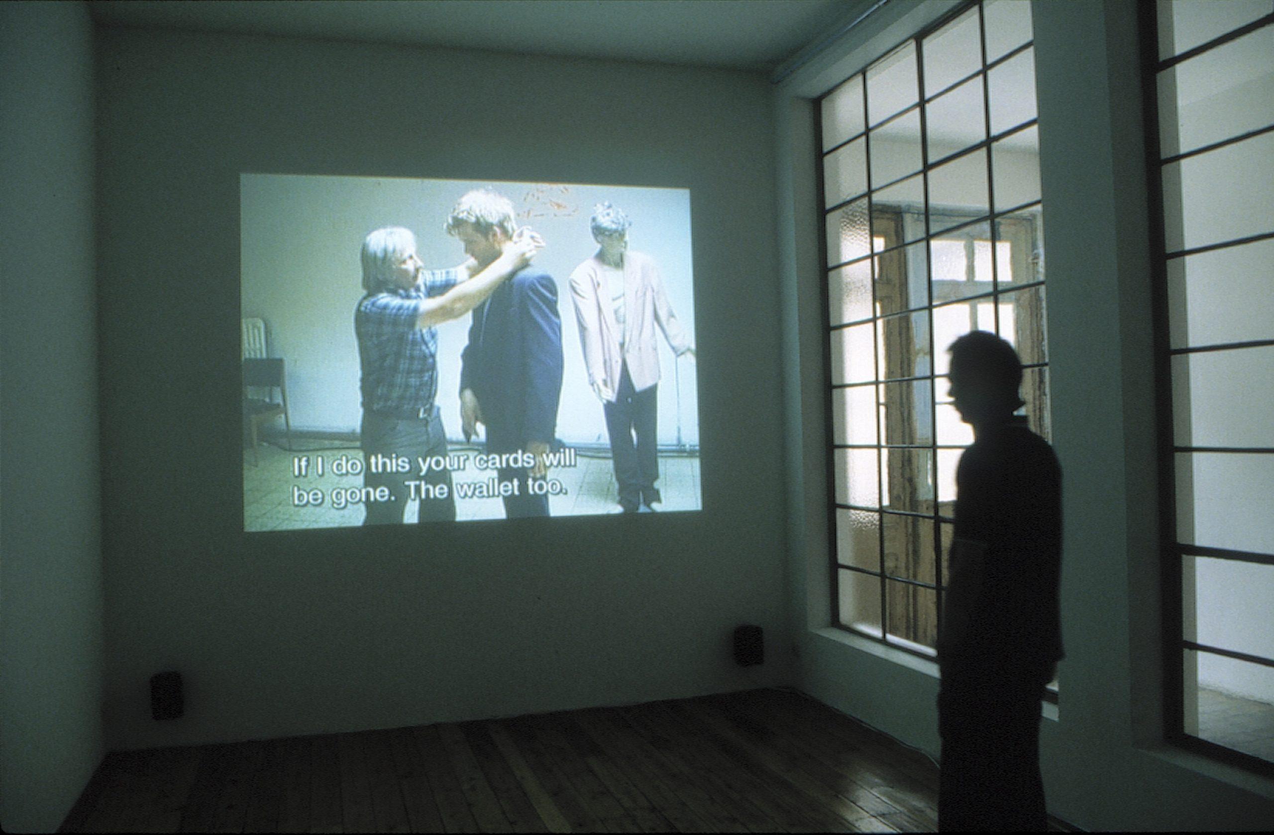 Sven Augustijnen, installation view at Jan Mot, 2001